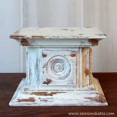 Chippy Paint Wood Rosette DIY Candle Holder