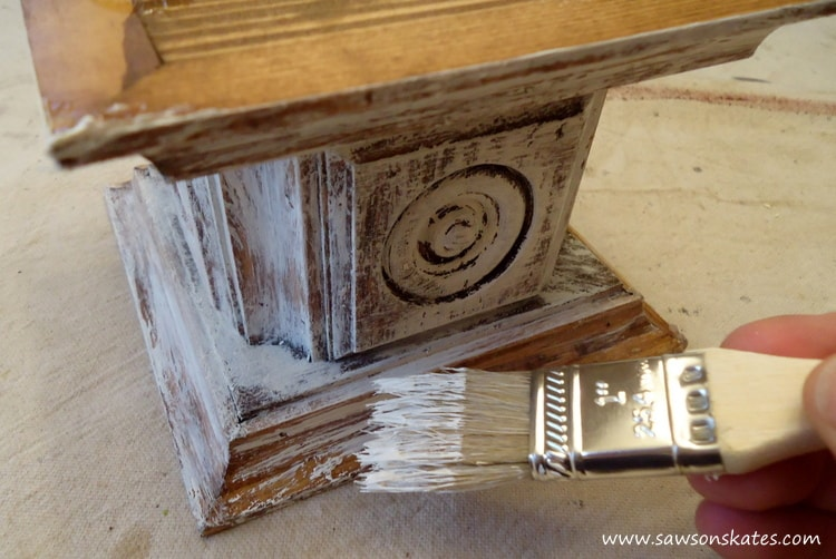 candle holder chalk paint
