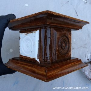 candle holder stain