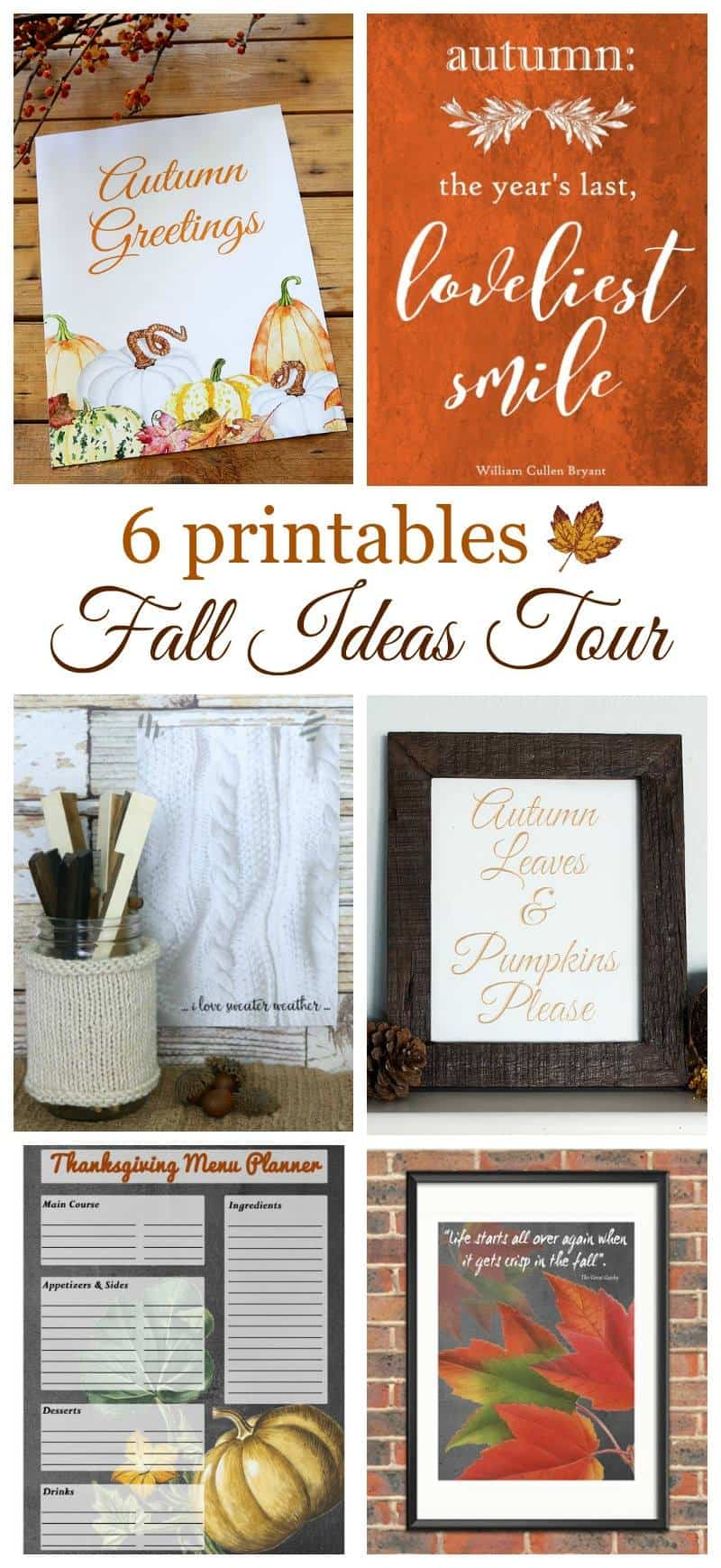 6 Fall Printables