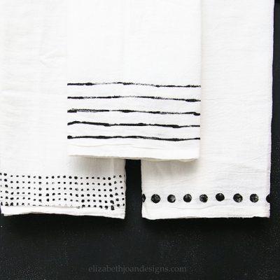 Utensil Stamped Dish Towels