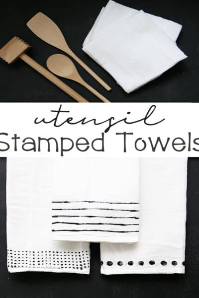 DIY Utensil Stamped Towels