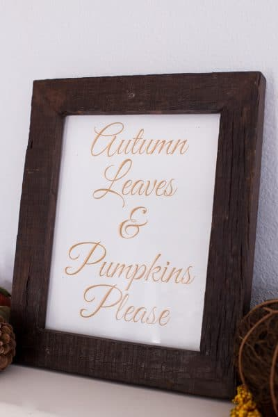 Metallic Fall Printables