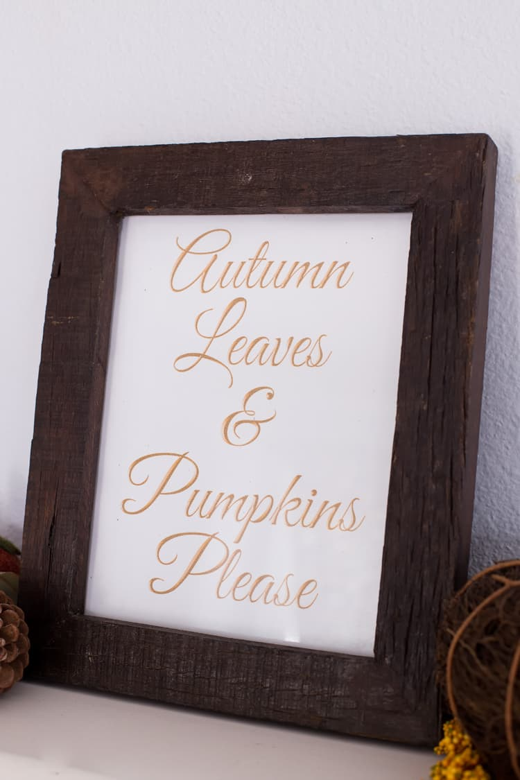 Autumn Leaves and Pumpkins Please Free Printable