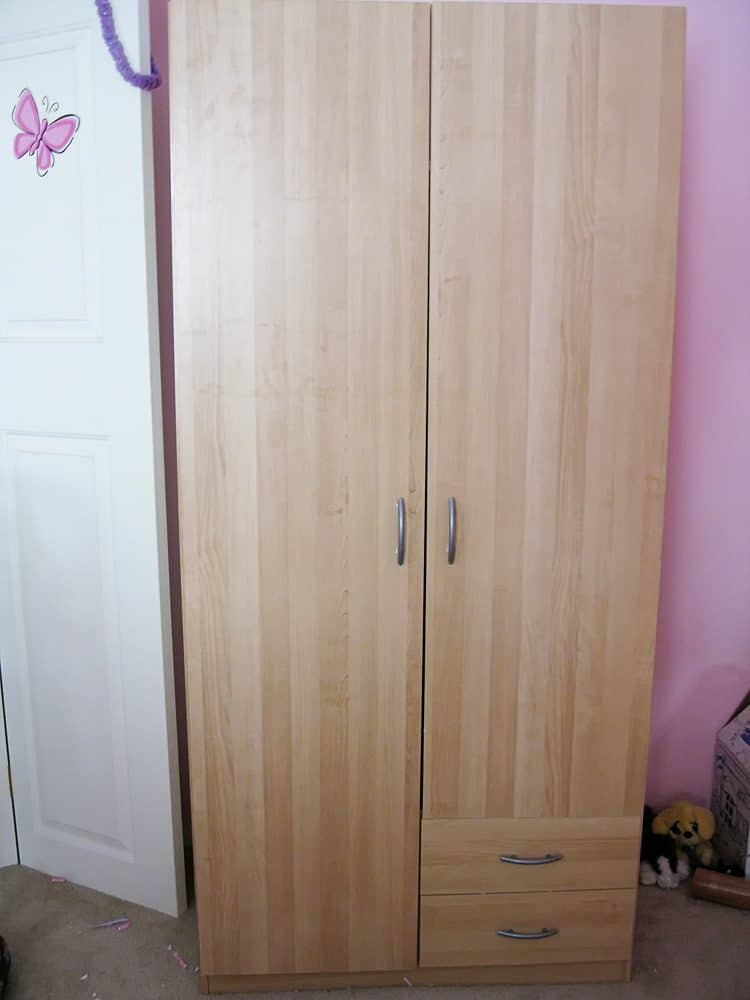 Ikea wardrobe before