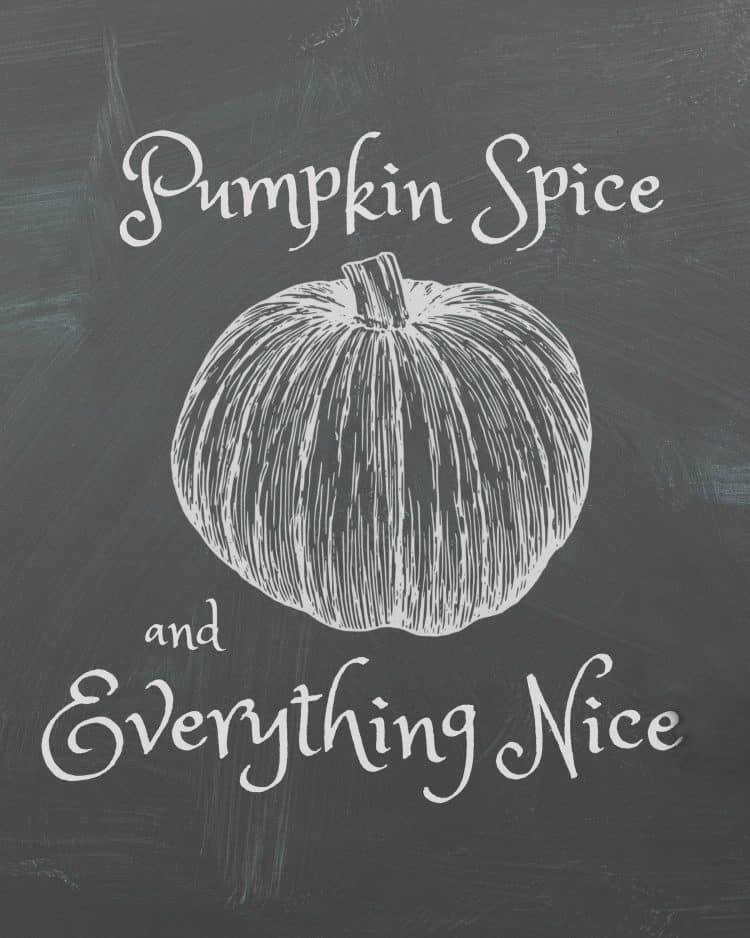 pumpkin-spice-and-everything-nice chalkboard printable
