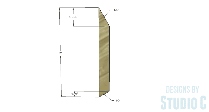 DIY Firewood Holder peak layout