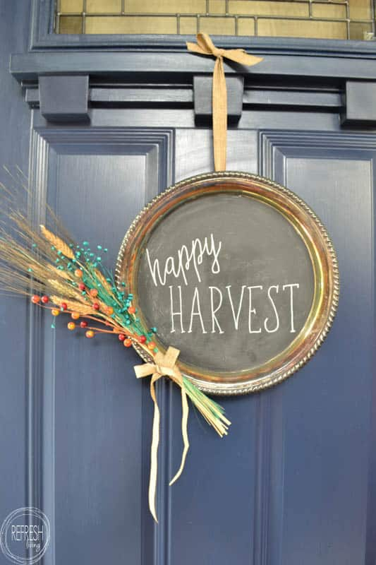 upcycled-fall-wreath-from-silver-platter-chalkboard-wreath-2