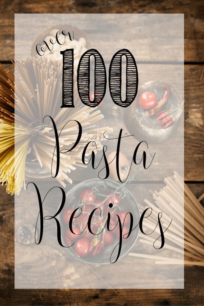Over 100 Pasta Recipes you'll LOVE - Noodles galore... dinners, soups, salads and more!