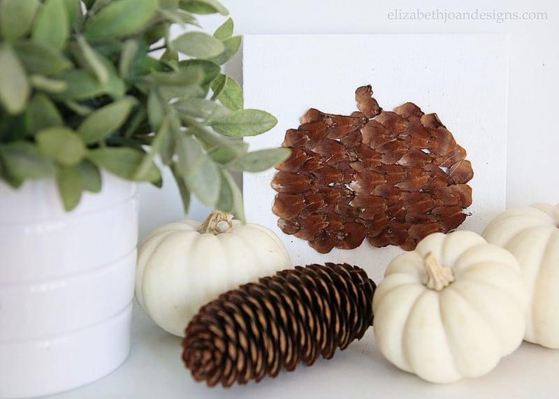 Pinecone Scale Pumpkins