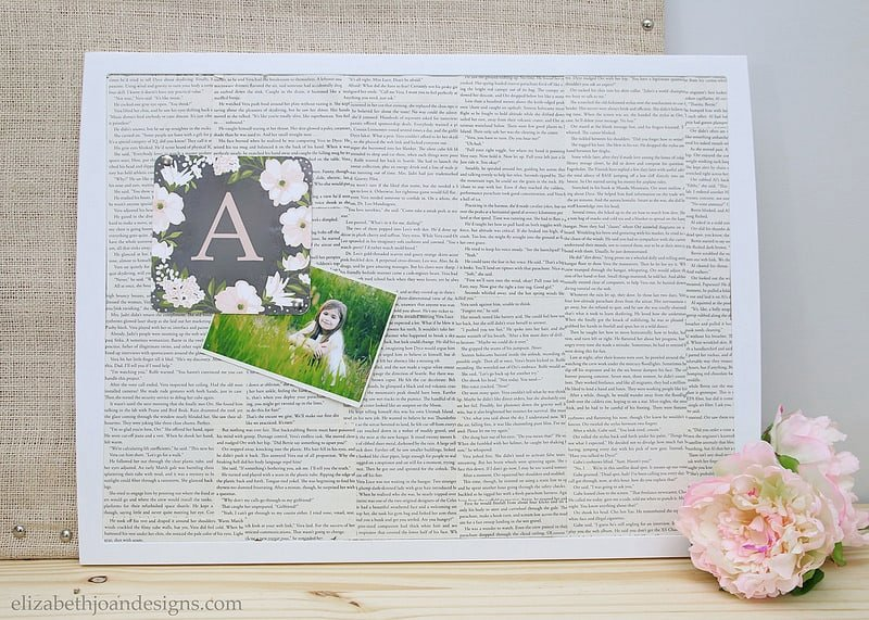Book Page Covered Bulletin Board