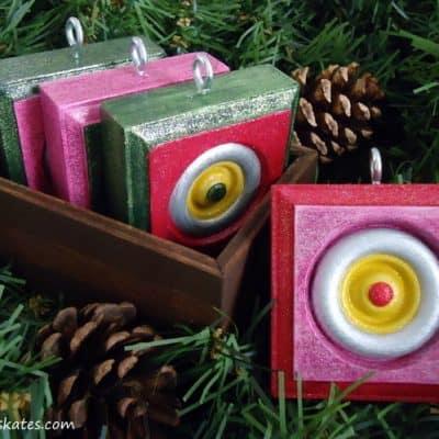 DIY Vintage Style Wood Christmas Ornaments