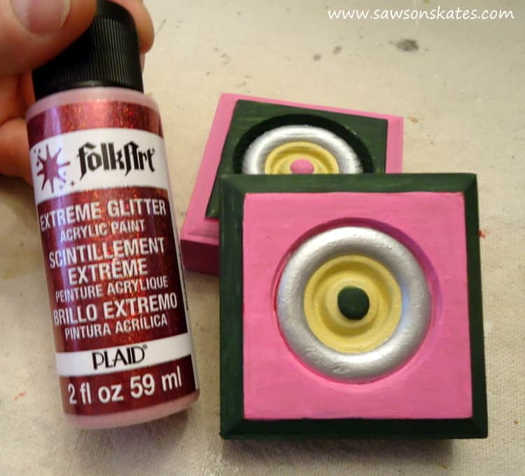 Glitter paint for wood Christmas ornaments