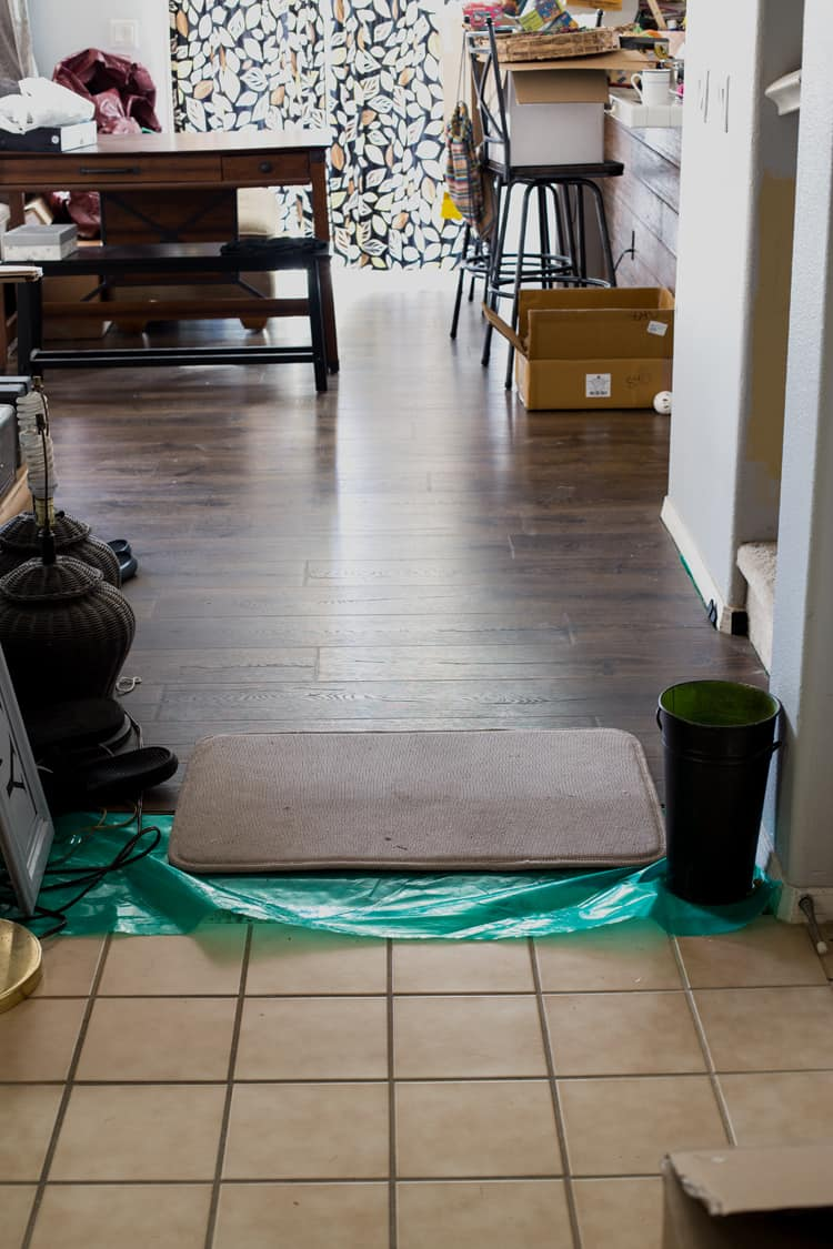Installing Pergo Flooring Into The Entryway