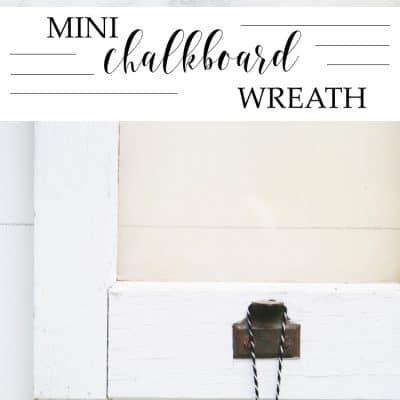 Mini Chalkboard Wreath