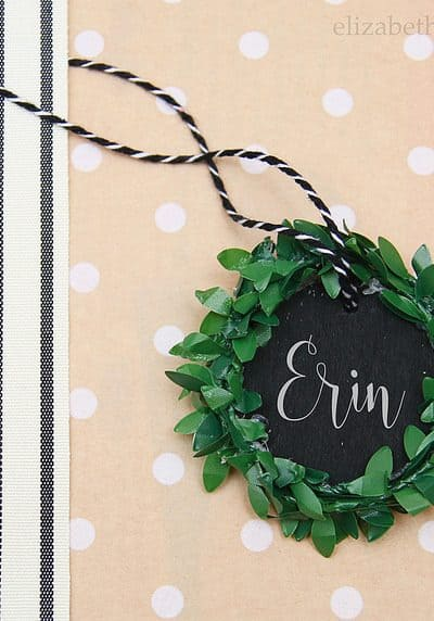 Mini Chalkboard Wreath