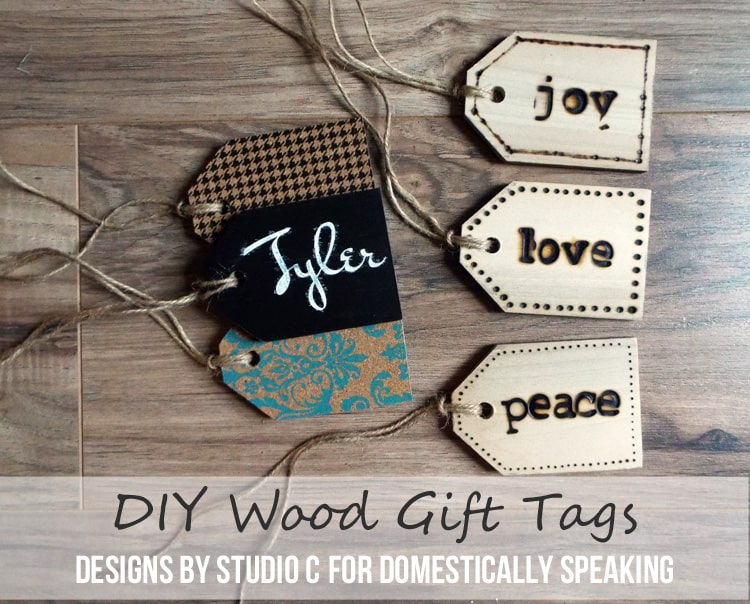 DIY Wood Gift Tags an easy DIY project to personalize your gifts