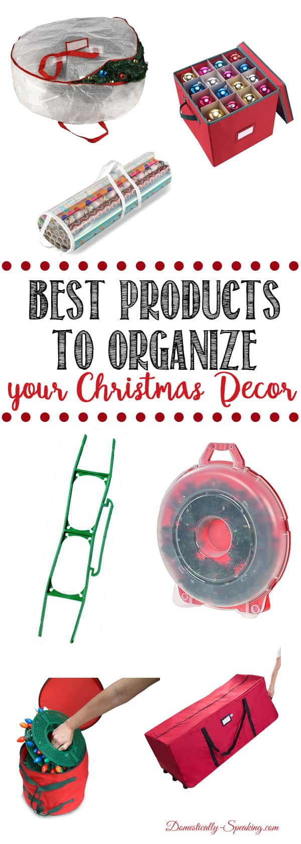 Best products to organize your Christmas decor, great storage ideas