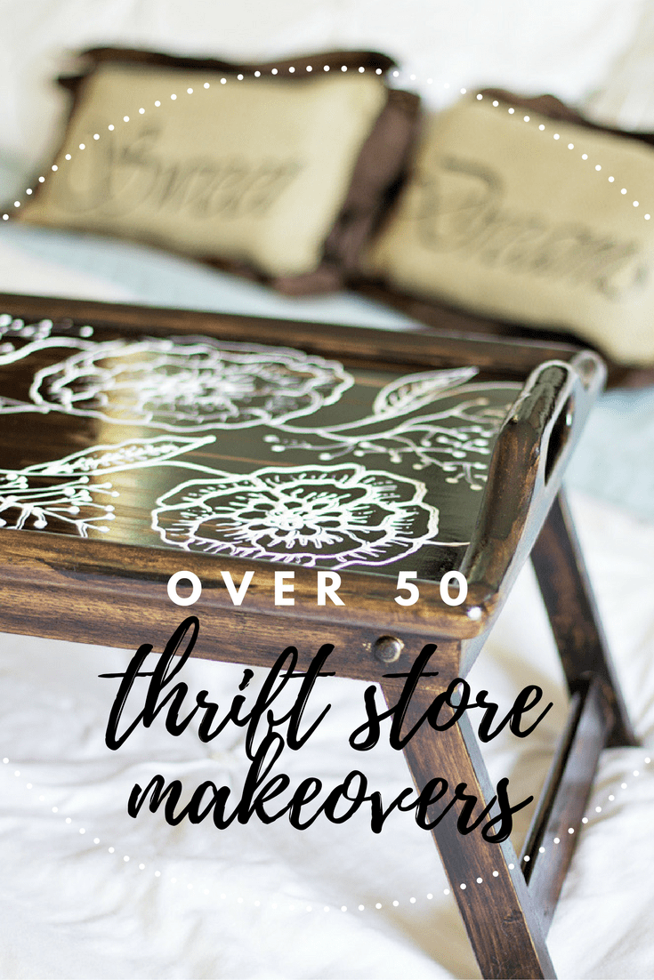 Over 50 Thrift Store Makeover projects