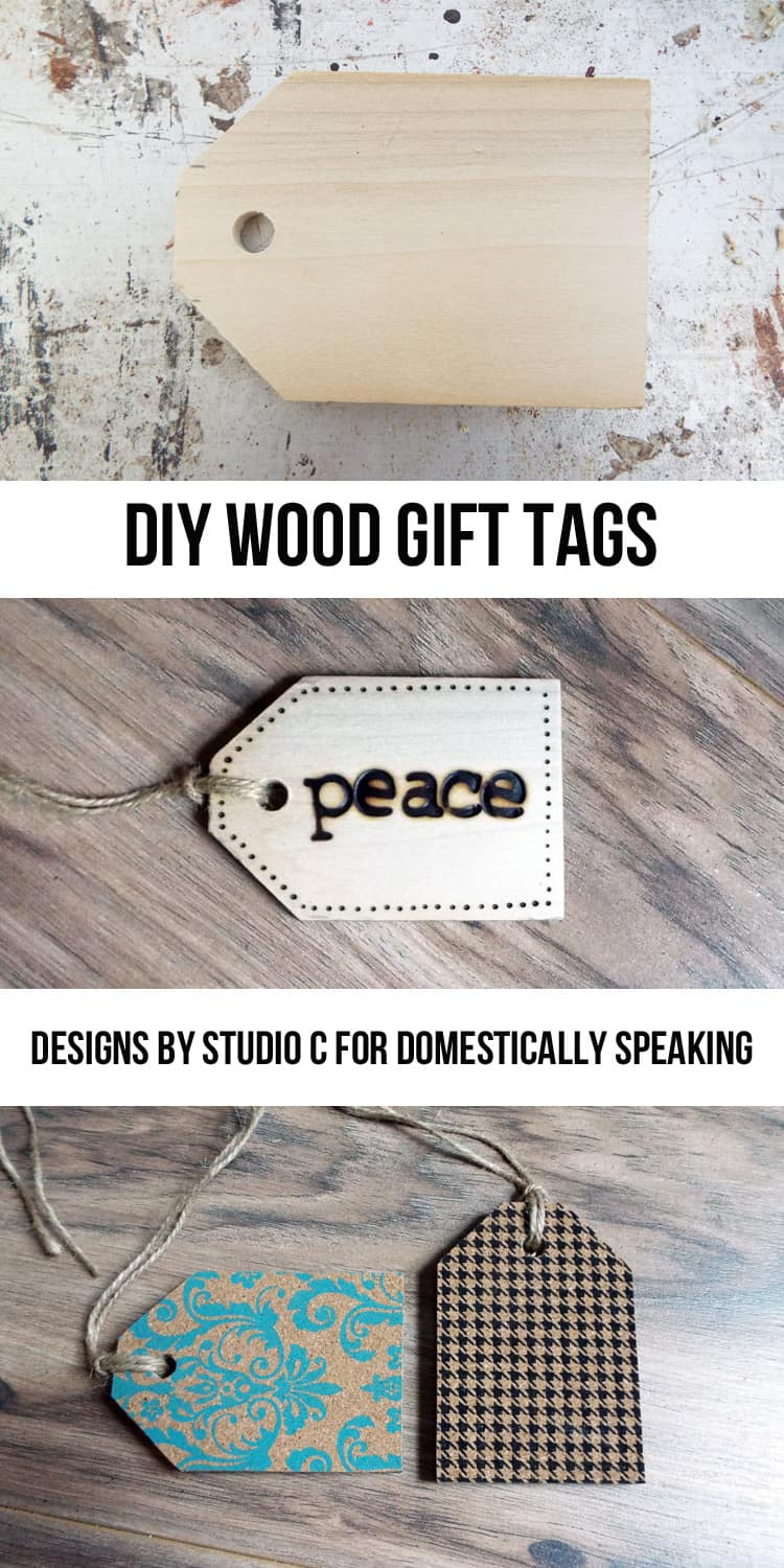 Create your own personalized DIY Wood Gift Tags with this great tutorial