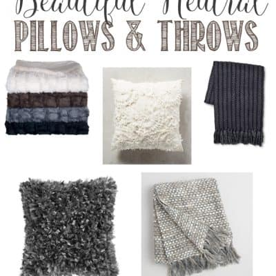 Cozy Neutral Pillows and Throws