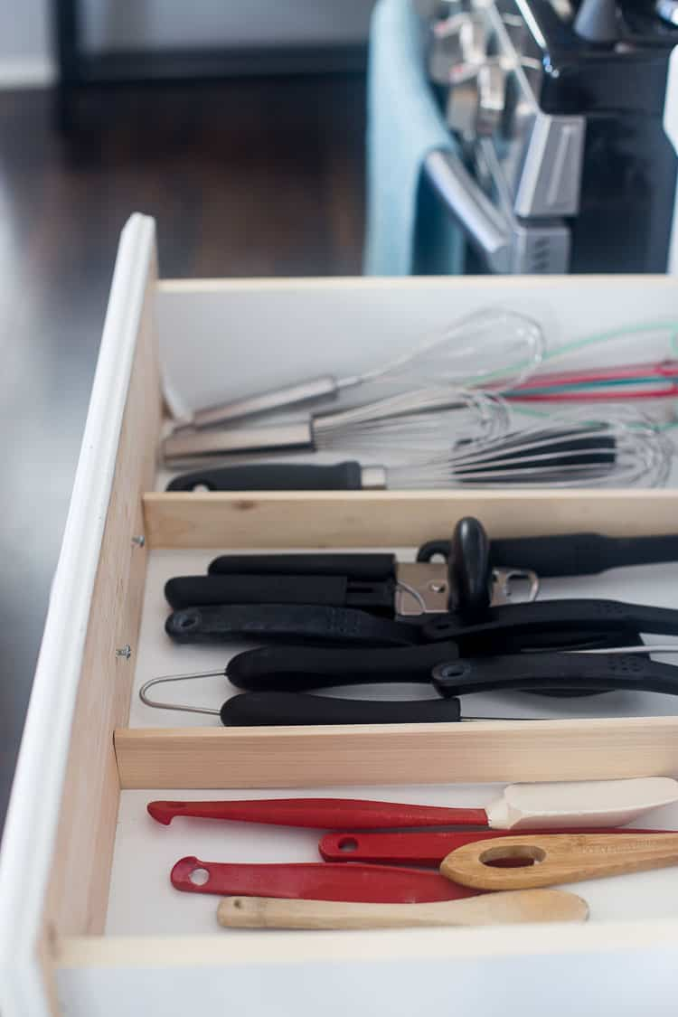 Keep your kitchen utensils organized with this easy DIY Drawer Organization project