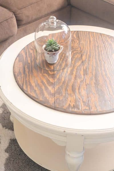 Farmhouse Faux Plank Tabletop