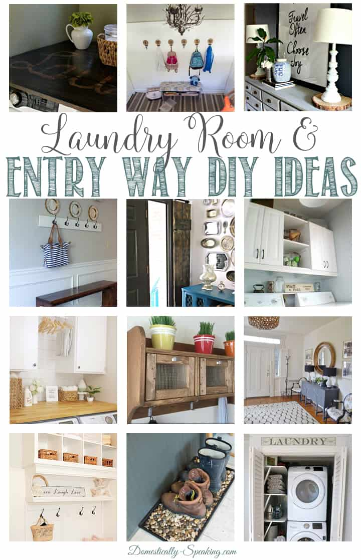 Laundry Room and Entry Way DIY Ideas
