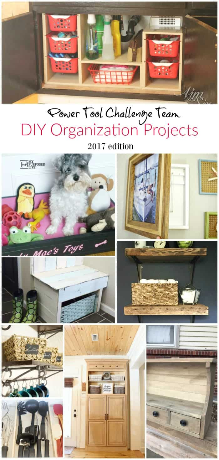 DIY Organization Projects using Power Tools