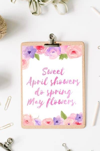 Spring Flowers Printable