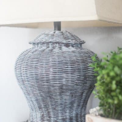 Rattan Lamps Updated with Paint