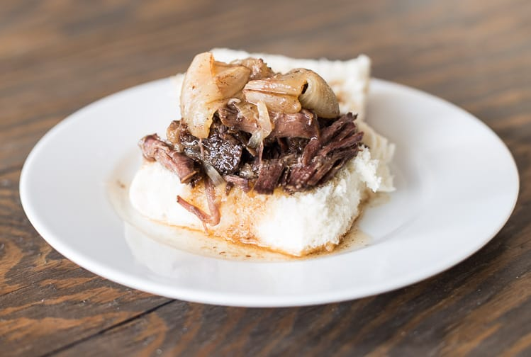 Crockpot BBQ Beef with Sweet Onions | Easy Slow Cooker Dinner | Makes a Delicious BBQ Beef Sandwich