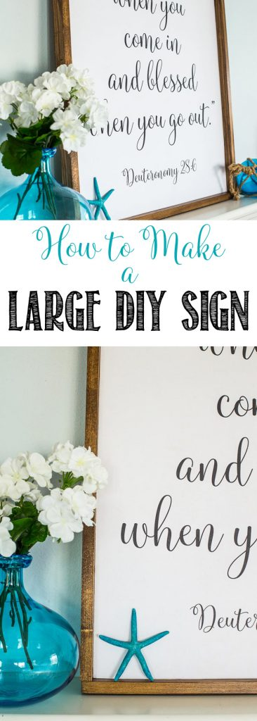 How to Make a Large DIY Sign | Easy Rustic Wooden Sign | Less than $20 | Farmhouse Style