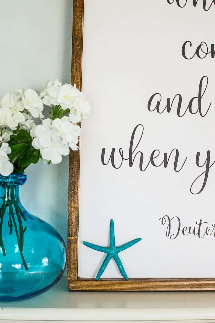 Large DIY Sign with a farmhouse rustic look