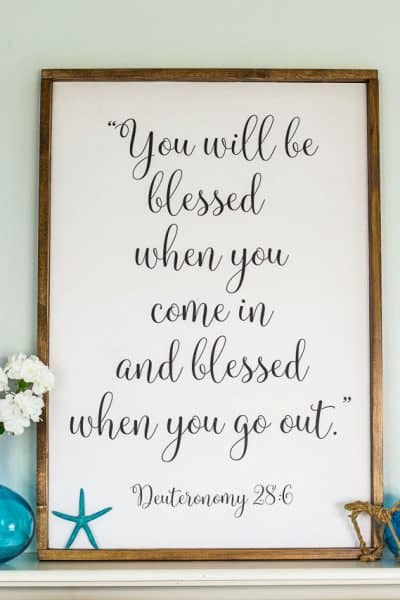 Large DIY Sign – You Will Be Blessed