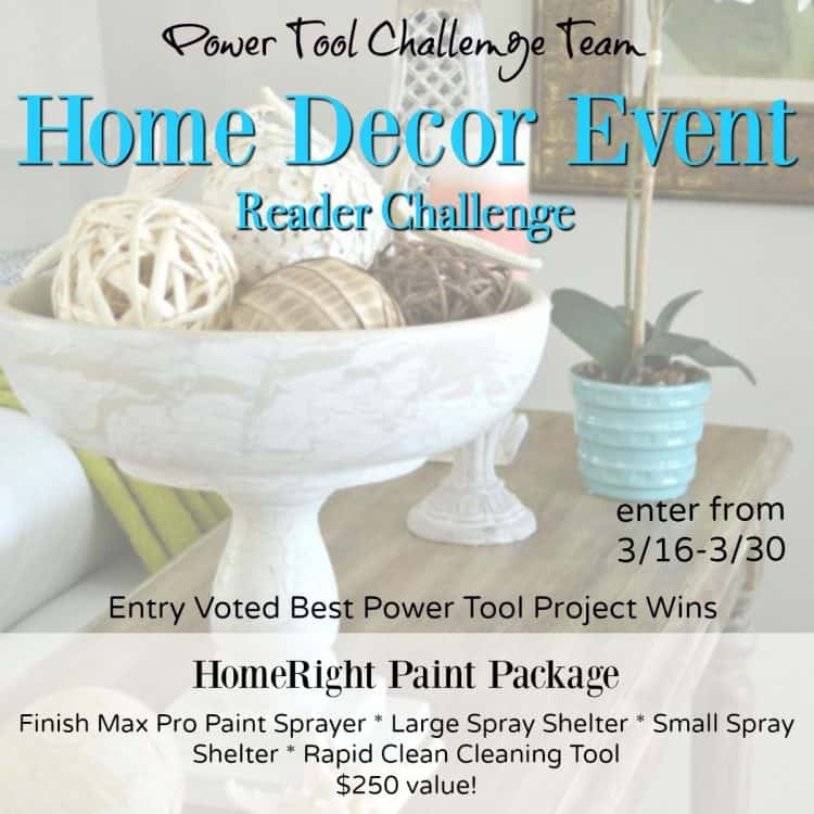 Home Decor Power Tool Giveaway