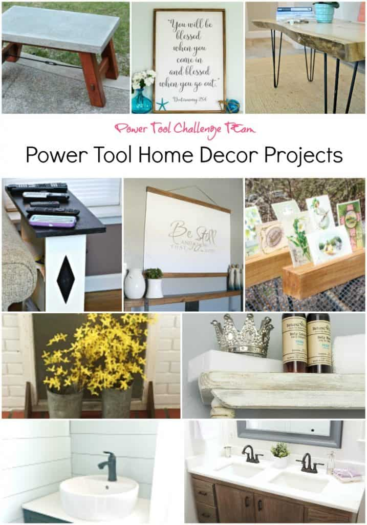 Power Tool Home Decor Projects