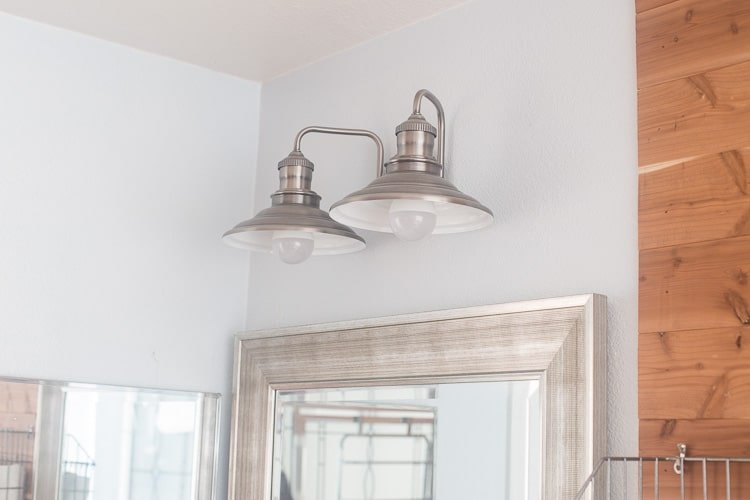 Master Bathroom update with Industrial Lighting