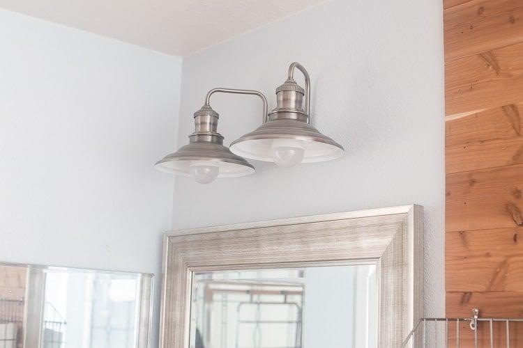 Master Bathroom update with Industrial Lighting