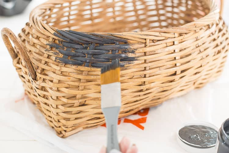 Painting Spring Thrift Store Basket