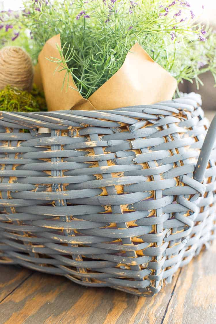 Spring Thrift Store Basket