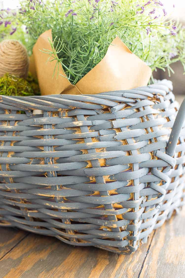 Spring Thrift Store Basket