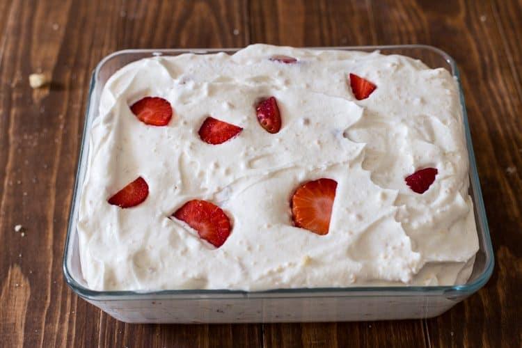 No Churn Strawberry Shortbread Ice Cream