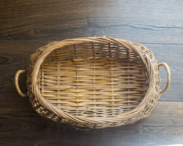 Before of Spring Thrift Store Basket