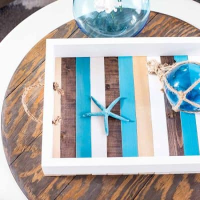 DIY Coastal Tray