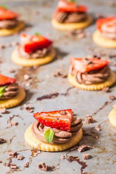 RITZ Chocolate Mousse and Strawberries