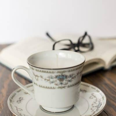 How to Make a Thrift Store Teacup Candle