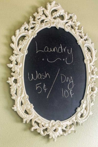 Gaudy Mirror Gets a Chalkboard Makeover