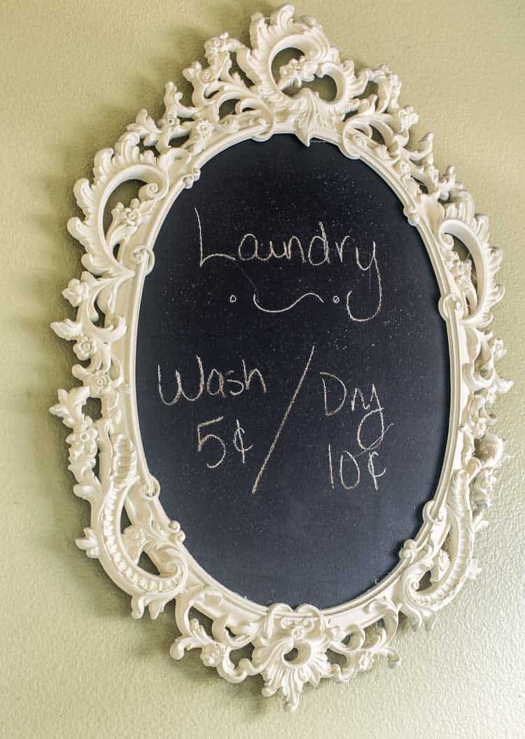 Gaudy Mirror Gets A Chalkboard Makeover Domestically