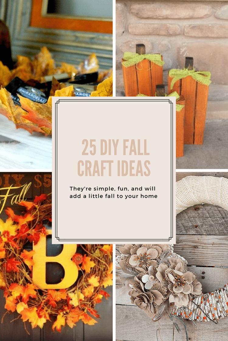 Fall Craft Ideas Part - 50: 25 DIY Fall Craft Ideas